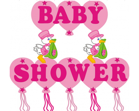 Baby Shower Stork Foam Banner Bona Import