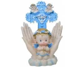 CERAMIC CROSS WITH ANGEL (12 PC)