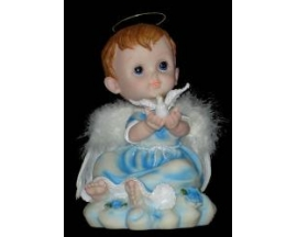 "CERAMIC ANGEL WITH DOVE 8"" (12 PC)"