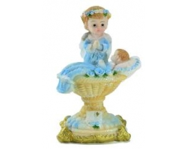 CERAMIC ANGEL ON PEDESTAL (12 PC)