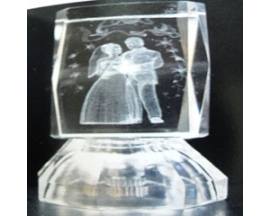 "2.5"" BATTERY OPERATED Crystal CUBE COUPLE(12PC)"