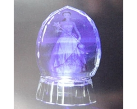 GLASS FIGURINE WITH LIGHT (12pcs)