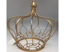 METAL ROYAL CROWN CENTERPIECE