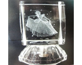 GLASS  CINDERELLA CUBE (12pcs)