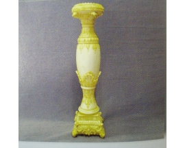 ANTIQUE FINISH CERAMIC  CANDLE STAND