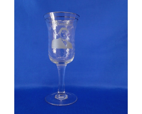 CHAMBELAN GLASS CUP SILVER RIM(6 PC)
