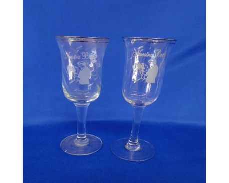 flutted glass nuestra boda  (6 PC)