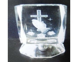 GLASS LASER HANDS/CROSS CUBE(12 PC)