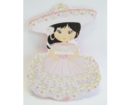 "8"" MEXICAN CHARRA GIRL FOAM CUT OUT (12 PC)"