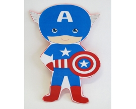 "8"" CAPTAIN AMERICA FOAM CUT OUT (12 PC)"
