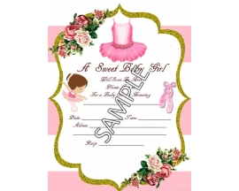 BALLERINA INVITATION (25 PC)