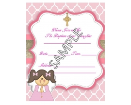 5X7 BAPTISM INVITATION (25 PC)