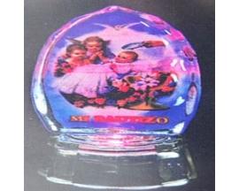 BAUTIZO GLASS FIGURINE W/LIGHTS (12pcs)