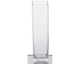 "4x16"" square Glass Vase(12pc)"