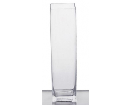 "4X20"" SQUARE Glass Vase"