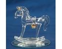 GLASS ROCKING HORSE FAVOR(12PC)
