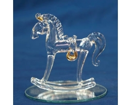 GLASS ROCKING HORSE FAVOR(12PC)