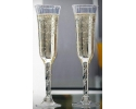 "8"" Plastic Clear Champagne flute  (120 PC)"