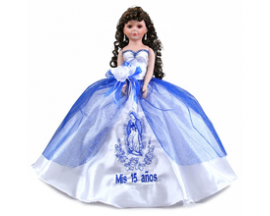 "22"" VIRGEN QUINCEANERA DOLL"