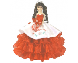 Mexican Charra Rose quinceanera doll 22""