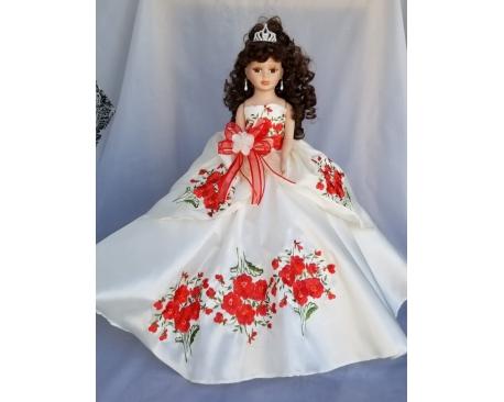 """Porcelain Quinceañera doll 22"""""""