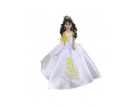 "Porcelain Quinceañera doll 22"" Virgen design"