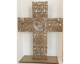 "12"" Wood Cross Prayer"
