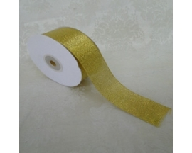 "1.5"" TAFFETA METALIC RIBBON( 25 YRDS)"
