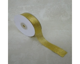 7/8 TAFFETA METALIC RIBBON 25 YRDS