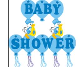 BABY SHOWER STORK FOAM BANNER