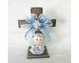 baptism wood centerpiece (12 PC)