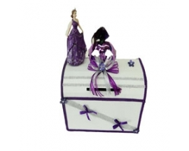 Quinceanera decorated money Box w/doll and Mask