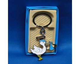 baby shower stork keychain (12 PC)