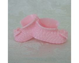 plastic double baby shower booties (12 PC)