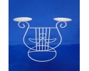 22cm Two Candle with Angel Stand