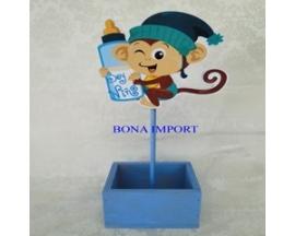 baby shower monkey wooden centerpiece(12pc)