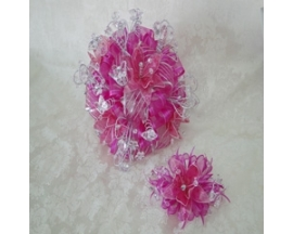 QUINCEANERA ROUND BOUQUET(2PC)